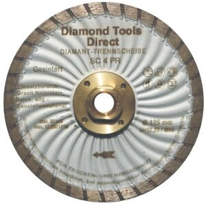 125-mm-Diamantscheibe-Diamant-Trennscheibe-Turbo-Granit-Beton-mit-Flansch-M-14