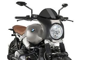 Windschild f/ür BMW R NineT 14-19 schwarz Puig 7012n