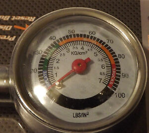 Creative *metal* Dial Tire Gauge 10-100psi_car_truck_bicycle_motorcycle_tractor_trailer Air Pressure Gauges