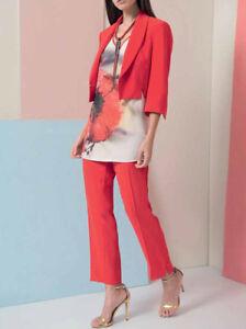 Dettagli su EDAS Bolero coprispalle donna elegante cerimonia Camasso giacca corta ROSSO BLU