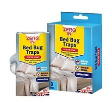 Pack Of 3 Poison Free Bed Bug Traps - Zero In - Insects Protection Killer Pest