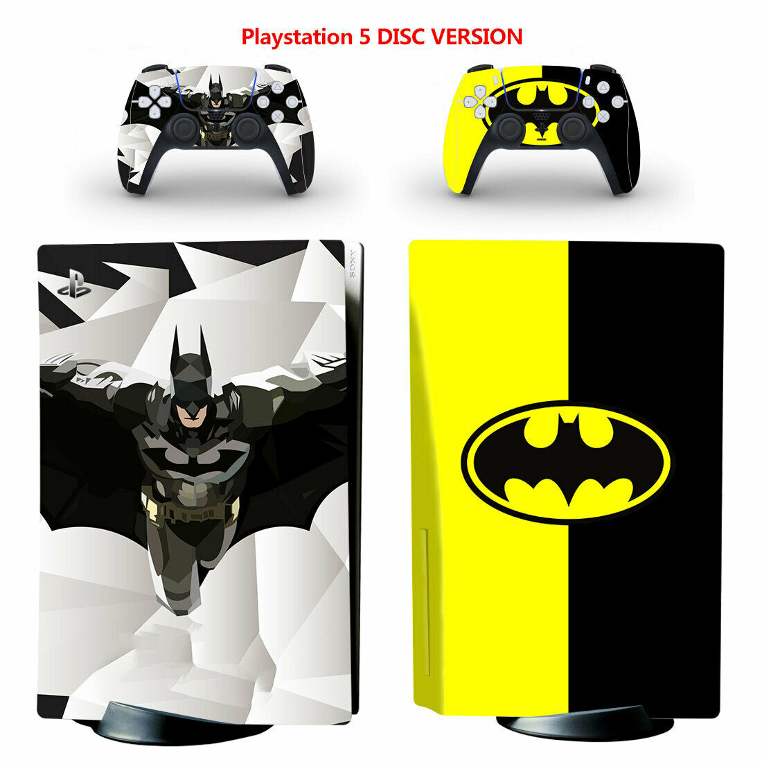Batman PS5 PlayStation 5 Disc Console Controllers Vinyl Decal Skin Sticker Cover
