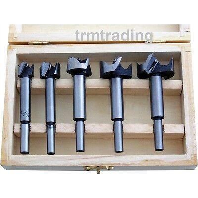 5pc Forstner Drill Bit Set Kitchen Cupboard Door Hinge15mm 20mm 25mm 30mm 35mm