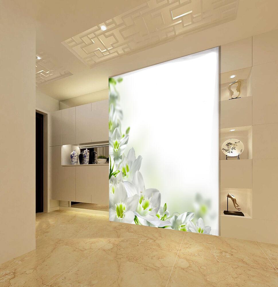 3D Fleur Blanche 53 Photo Papier Autocollant Peint en Autocollant Papier Murale Plafond Chambre Art 277e24