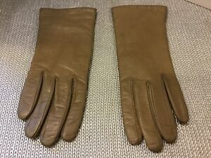 6aa13657442 Details about Vintage Bloomingdale's Leather Cashmere Lined Women's Gloves  Size 7 Italy