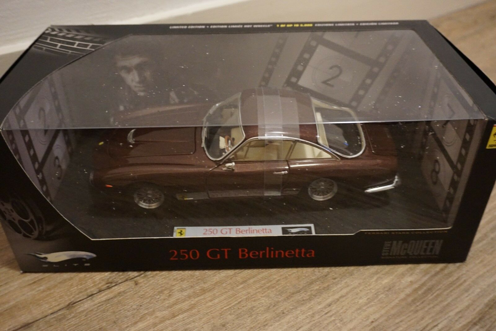 1 18 Hot Wheels Elite Ferrari 250 GT Berlinetta Steve Mc Queen