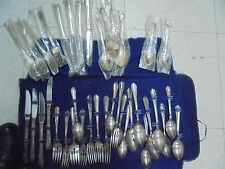 PRETTY! 39 Piece William A. Rogers Al Plus Oneida Silver Plated Flatware Set!