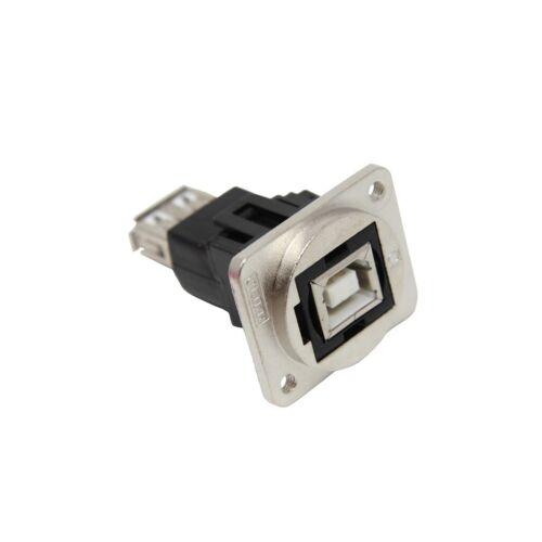 CP30207NM3 Kupplung USB A-Buchse,USB B-Buchse FT USB 2.0 Metall 19x24mm CLIFF