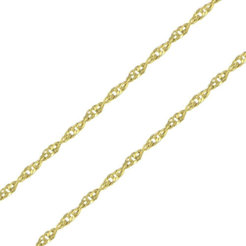"""24/"""" Mens Womens 14K Solid Yellow Gold 1.6MM Singapore Chain Necklace 16/"""""""