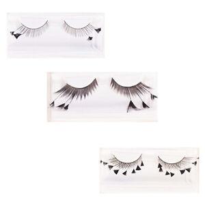 Black-Diamond-Eyelashes-w-Adhesive-Faux-Cils-PLUR-Novelty