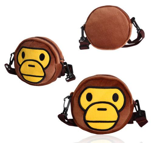 Hot Bape Kids A Bathing Ape Baby Milo Lovely Monkey Mask Shoulder Bag Gift
