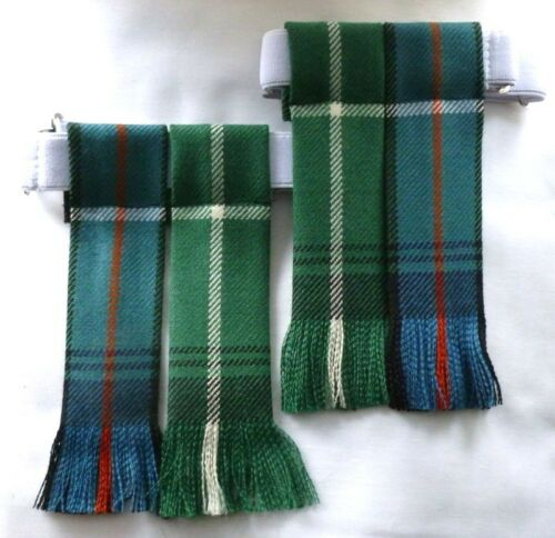 Kilt Flashes Tartan MacDonald of the Isles anciennes de chasse Tuyau Chaussette Menswear