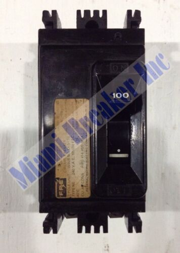 NE224100 Federal Pacific 2 Pole 100 Amp 240 Volt Circuit Breaker