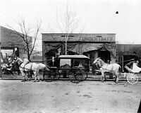 8x10 Photo: Funeral Hearse Carriage Of C.w. Franklin Of Chattanooga, 1899
