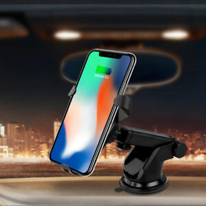 new styles ebb43 90ca4 Details about Car Air Vent Mount Holder Qi Fast Wirless Charger For iPhone  8 Samsung S7/S8