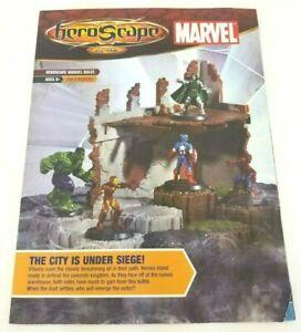 Heroscape-Marvel-Heros-Iron-Man-Thanos-Hulk-City-Is-Under-Siege-Game-Guide-Book