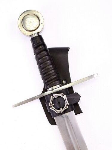 Dolch 04 SH-Dolch braun Dolch Halter aus Leder Halter Schwert