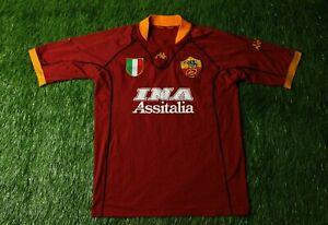 575ad6d8b6e AS Roma ITALY 2001 2002 RARE FOOTBALL SHIRT JERSEY HOME KAPPA ...