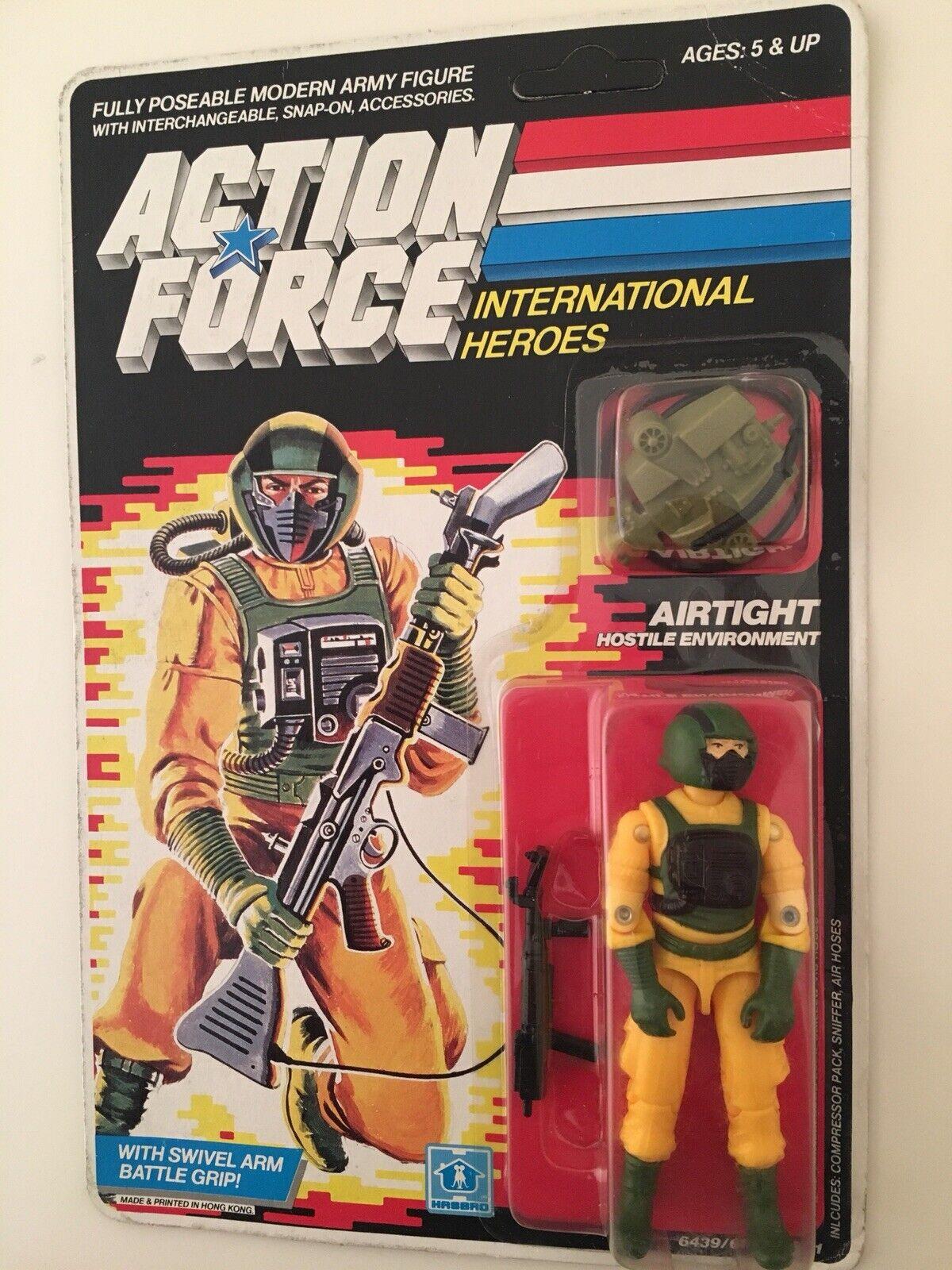 Fuerza de acción Vintage HASBRO Gi Joe hermético Moc Cochedado 1980s
