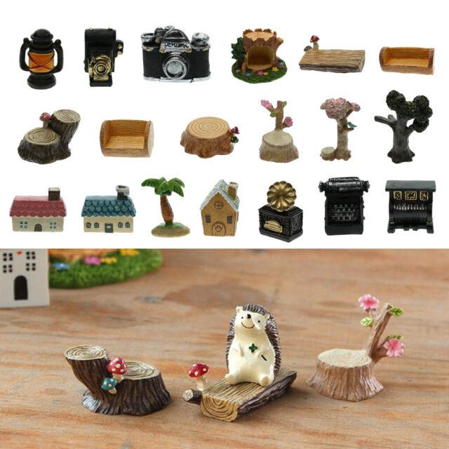 Miniature Figurine Resin Mushroom Fairy Garden Bonsai Micro Landscape DIY
