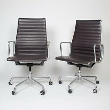 Eames Herman Miller Leather High Executive Aluminum Group Desk Chairs (10 avail)