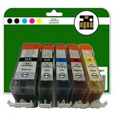 5 Cartucce Di Inchiostro per Canon Pixma MG5350 MG6150 MG6220 MG6250 non-OEM