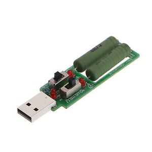 USB Resistor Electronic Load w/Switch Adjustable 3 Current 5V Resistance Tester