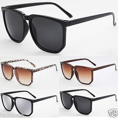 Large Geek Oversized fashion sunglasses square shape UV400 Vintage Retro