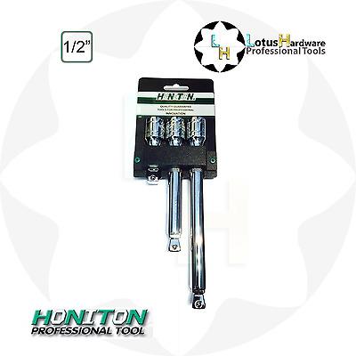 "Extension Bar Set Wobble 1//2"" 3pcs CrV L=75mm 150mm 200mm Honiton H4003"
