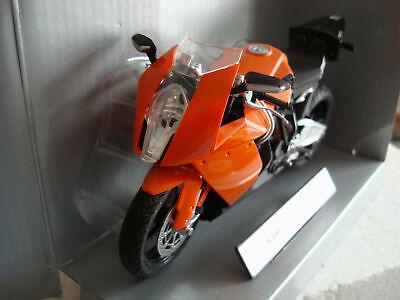 AUTOMAXX 600601 1:12 KTM RC8 V-TWIN SUPERBIKE DIECAST SPORTBIKE ORANGE NEW