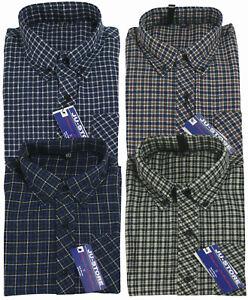 comprare popolare 53ab2 804cf Dettagli su Camicia uomo in flanella tessuto rasato fantasia a quadri  casual vintage tg39/46