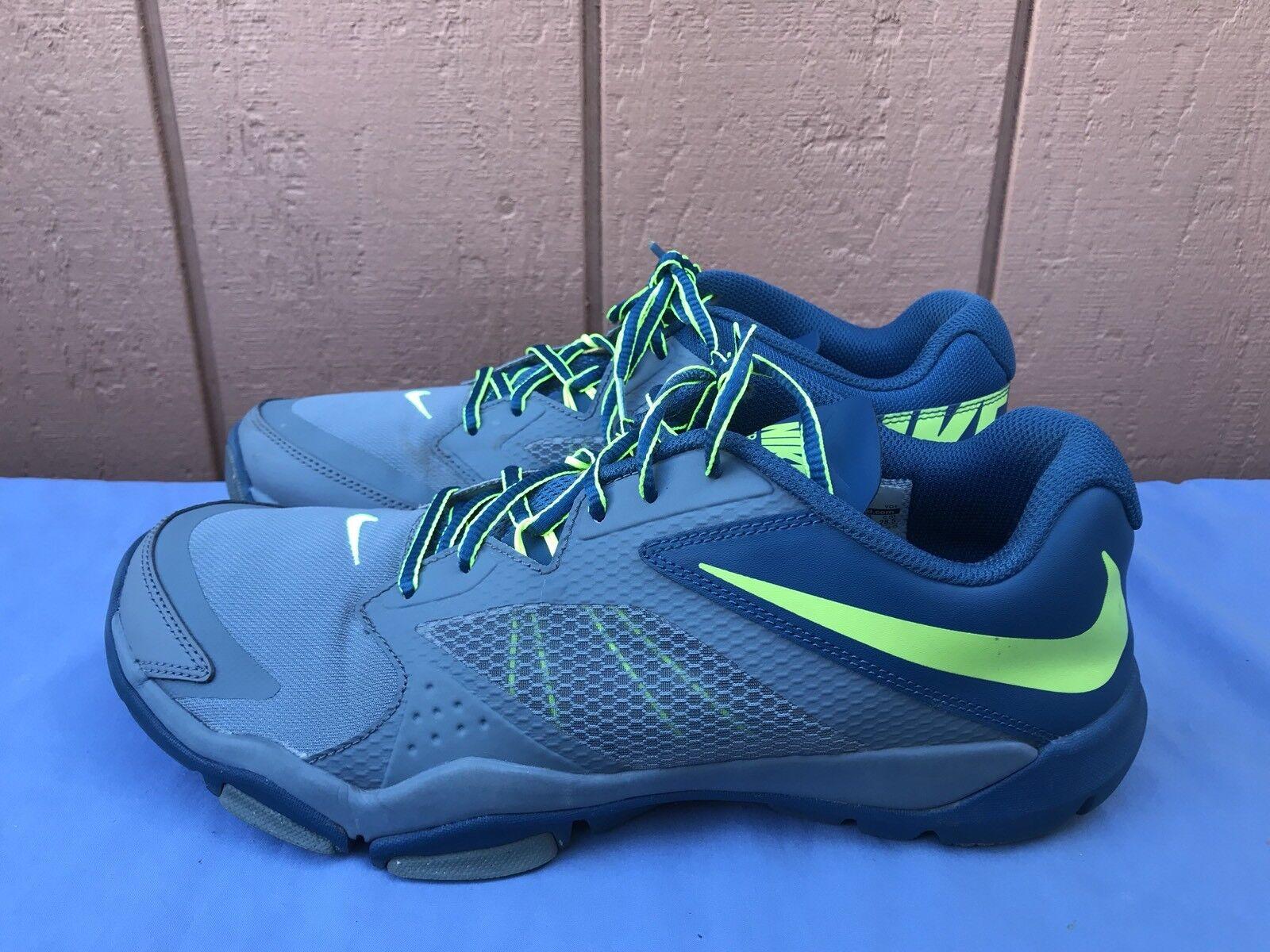 37cf46c084bc6a EUC NIKE Flex Flex Flex Supreme Training 3 US 10.5 Gray Blue Green Shoes  653620-400 A7 a97cb0
