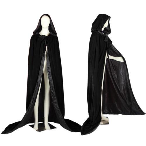 NEW Velvet Hooded Christmas Cloak//Wedding Cape//Coat Halloween Plus Sise S-6X