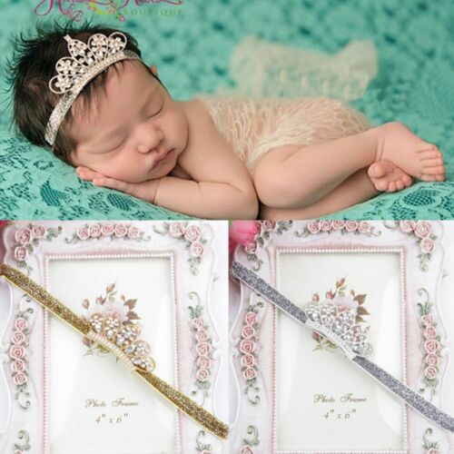 Princess Tiara Crystal Girl Crown Zone Baby Hair Band Hairband Baby Headwear