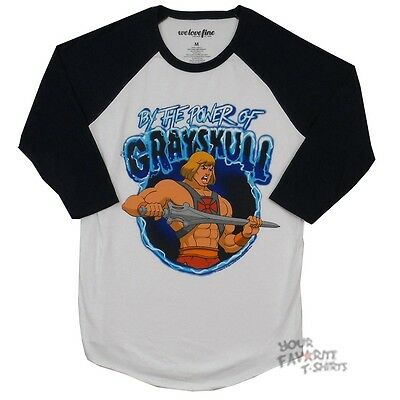 He-Man Masters Of the Universe By The Power Of Grayskull Raglan Shirt S-XXL