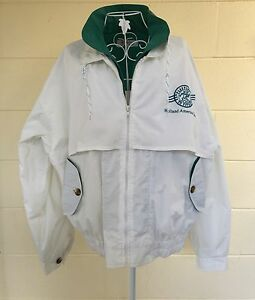 Womens-HOLLAND-AMERICAN-CRUISE-LINE-Jacket-Large-Vented-Lined-White-Green
