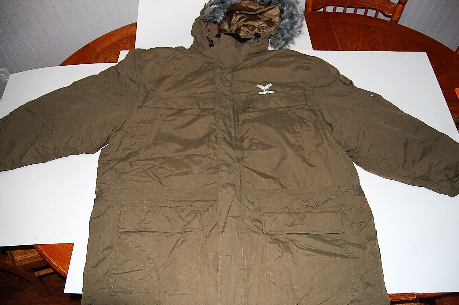 Avirex Cold Weather Parka  Herren Größe 4XL Olive Grün