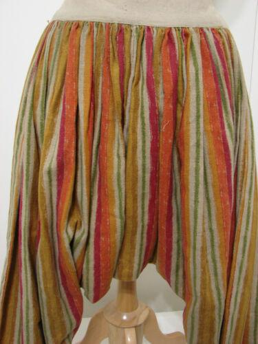 Studios À Tissé Pantalon Plissé Rayures Jute Étiqueté Vintage Sarouel Nbc Toile Ctxzw6qf