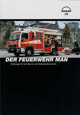 Prospekt MAN Feuerwehr 8/02 2002 Feuerwehr fire engine trucks brochure broschyr