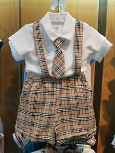 Ages 0-4 Years Old BABY BOY OUTFIT Top /& Shorts Soft Cotton Designer Outfit