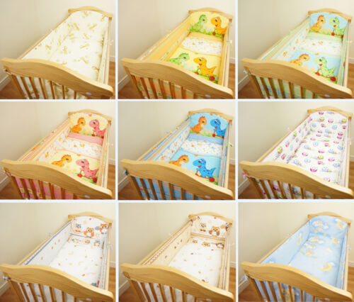 NURSERY BABY COT BUMPER LONG ALL ROUND BUMPER TO FIT COT COT BED
