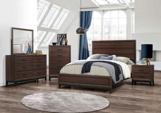 Kings Brand Furniture – Athens 6-Piece Queen Size Bedroom Set, Brown / Black