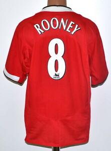 Manchester United 2004/2005/2006 Calcio Casa Maglietta Nike #8 Rooney Taglia XL