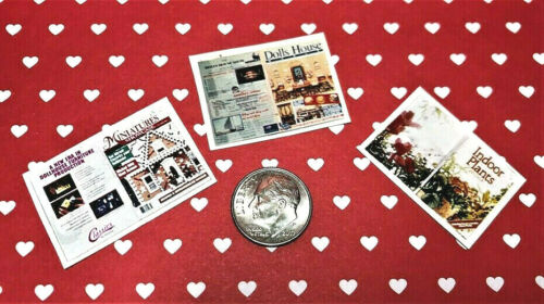Do It Yourself Magazines-1:12 scale-3//Set Dollhouse Miniature Overstock Sale