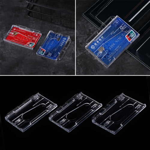 Sided ID Business Case Card Sleeve ID Card Pouch Name Card Work Card Holders