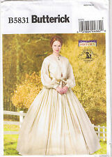Historical Civil War Gathered Dress Gown Petticoat Sewing Pattern 16 18 20 22 24