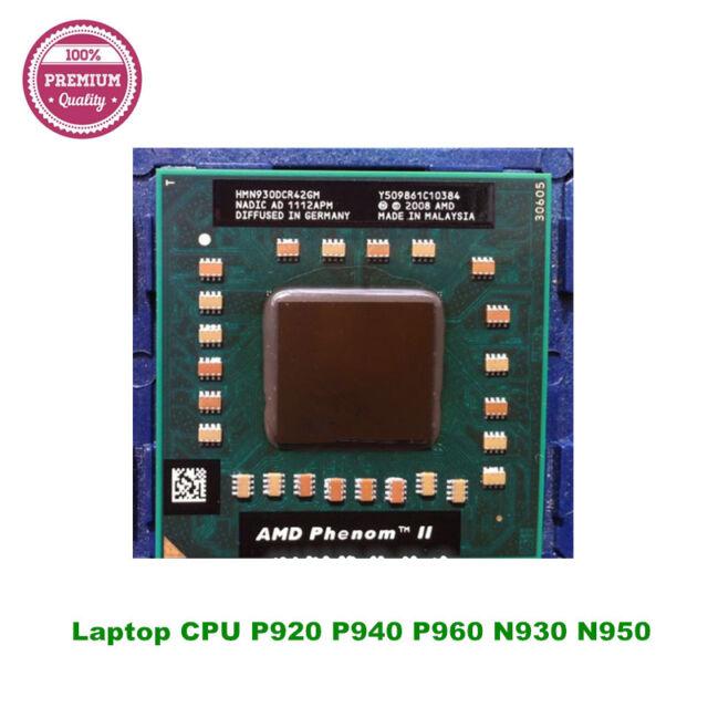 AMD Phenom II Ordinateur Portable CPU P920 P940 P960 N930 N950 N970 HMP920SGR42GM Quad Core