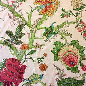 CV104 Retro Linen Floral Tropical Garden Upholstery Drapery Home Decor