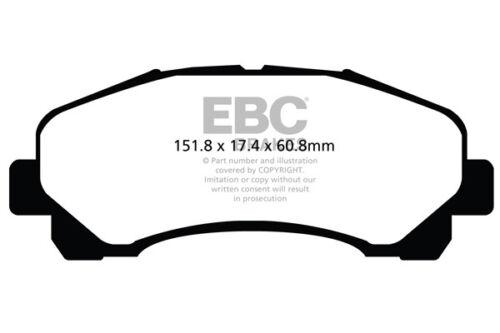 2008 /> 12 EBC Ultimax Front Brake Pads for Isuzu D-MAX 2.5 TD 4WD TFS86