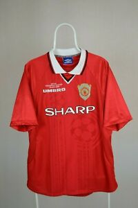 RARE-MANCHESTER-UNITED-1999-2000-CUP-FOOTBALL-SHIRT-JERSEY-VINTAGE-UMBRO-SIZE-XL